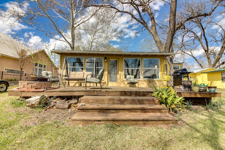 Dog-friendly lakefront home with back porch & views of the water