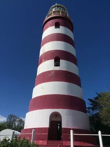 Elbow Reef Lighthouse, one of the world's two remaining hand cranked lighthouses.