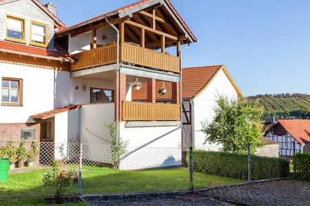 Apartment in the Kellerwald National Park, with balcony and easy access to a host of destinations.