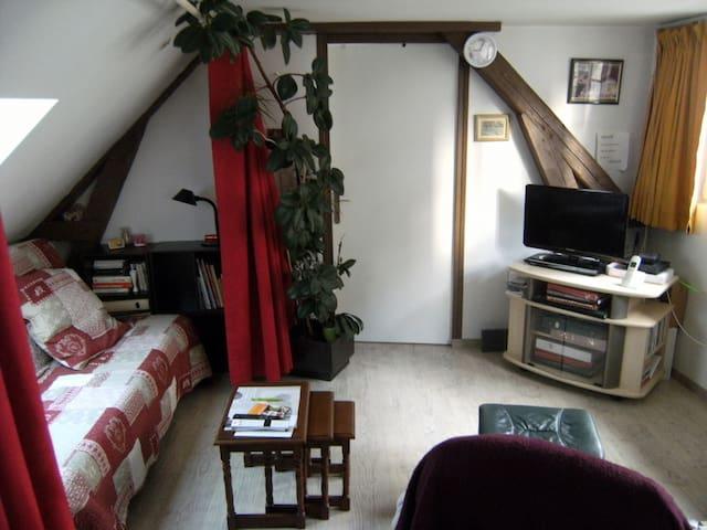 lit dans hypercentre, idéal pour court séjour - Caen - Ev