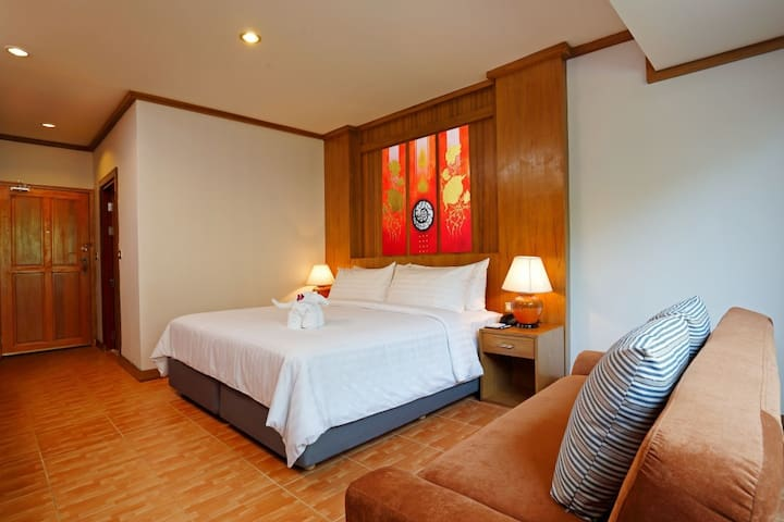 Superior Room Only, Cozy Superior with French Balcony ♥ Bangtao Beach
