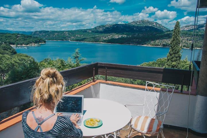 Stunning lake view villa