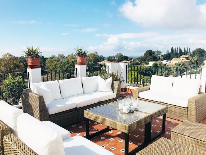 Marbella penthouse w3 terraces sea & mountain view