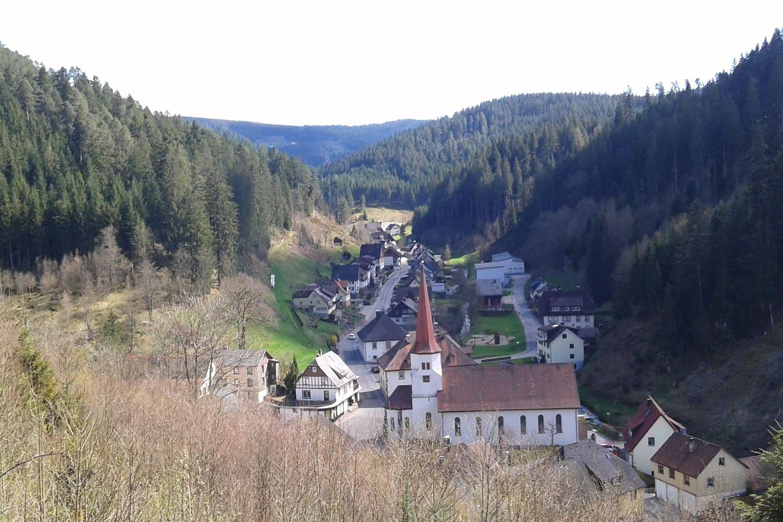 Uitzicht Nussbach en huis