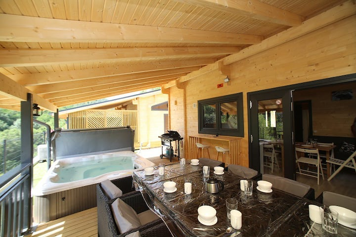 CHALET LUXE SPA PRIVATIF 10P