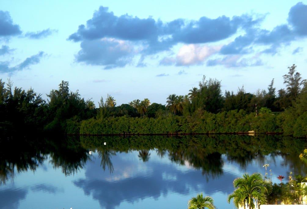Vue sur le lagon