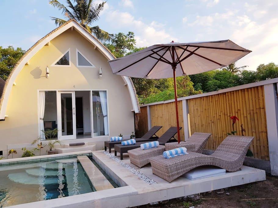 Pool and sun bathing
