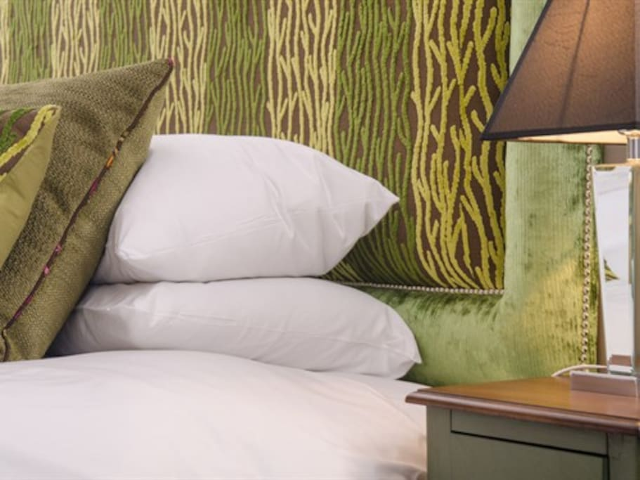 Each room is individually designed and furnished by Marilyn.