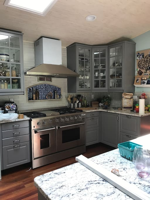 Gourmet Kitchen which you are free to use.  Cook meals to save on costs.