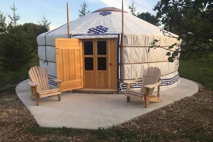 Mongolian Yurt on 200 acre Biodynamic farm
