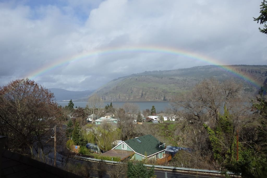Rainbow viewed from deck