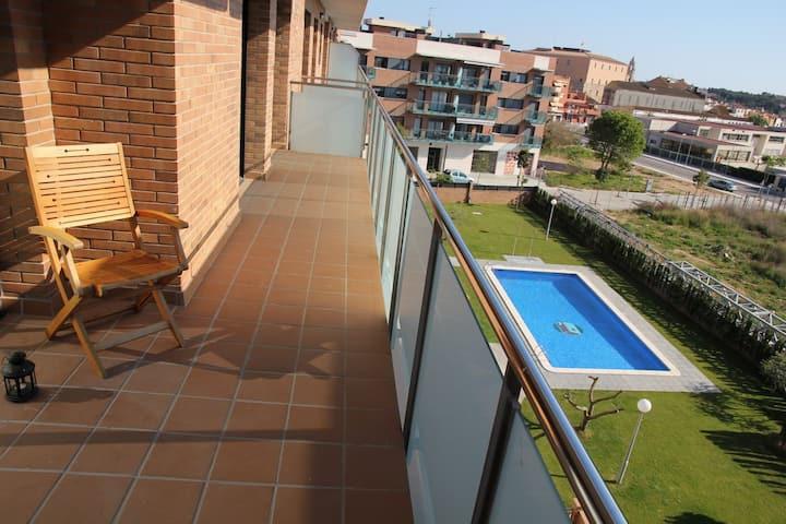 Ático con piscina en Torredembarra