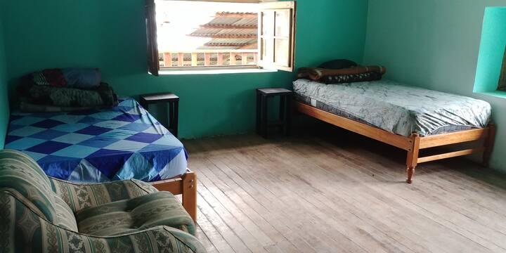 Habitación doble en hacienda colonial
