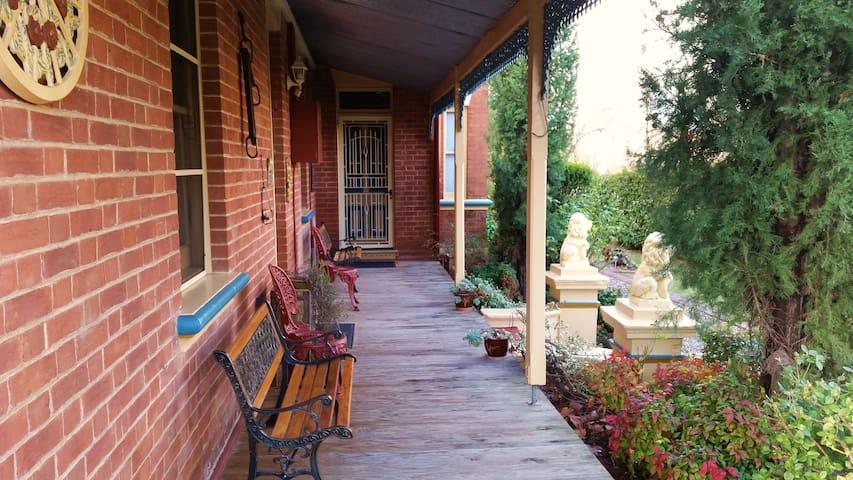 Queen Victoria Suite verandah overlooking gardens