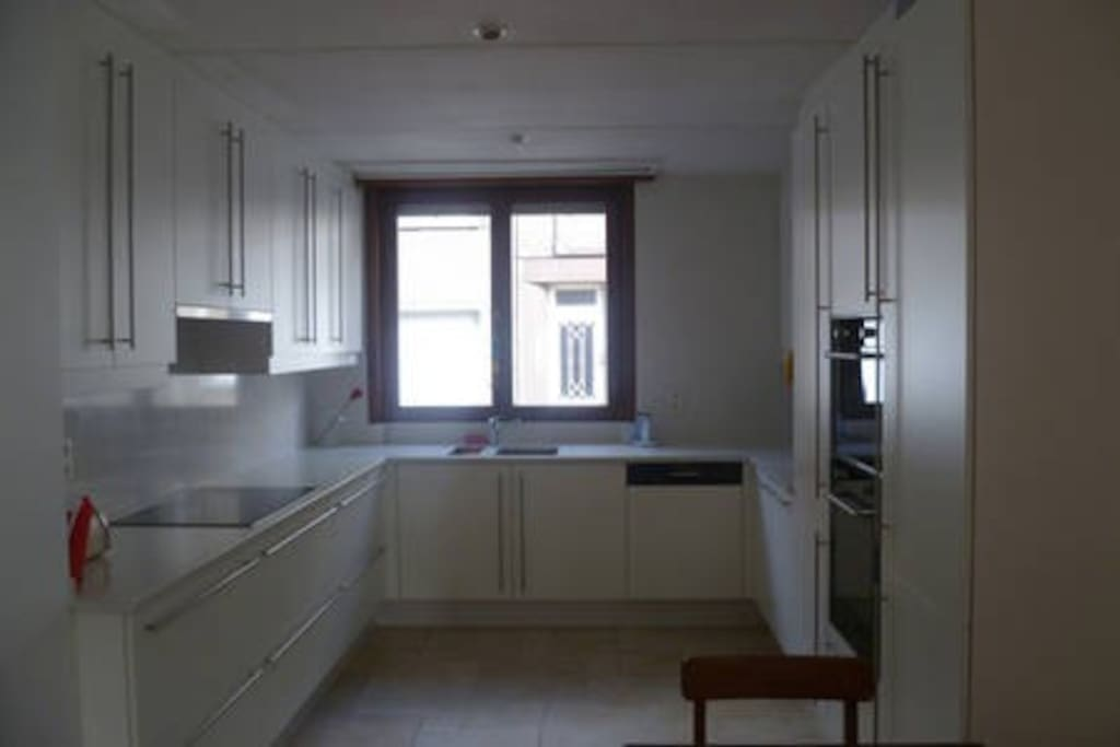 Fully equiped kitchen with dishwasher, microwave and oven