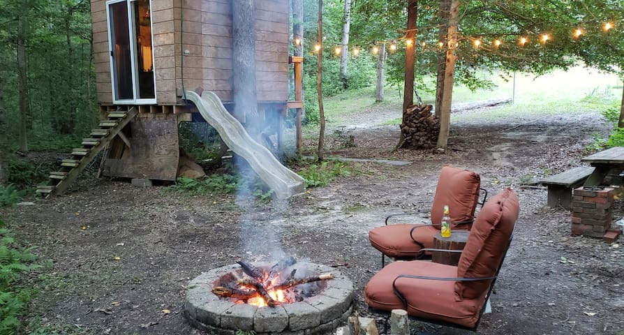 Enjoy a fire while you're here.  We'll provide a bundle of fire wood and starter!