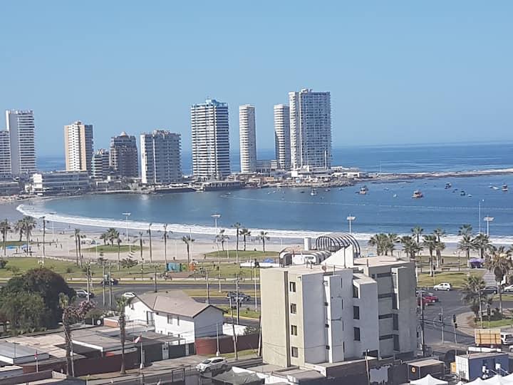 Departamento a pasos playa Cavancha, casino y ocio