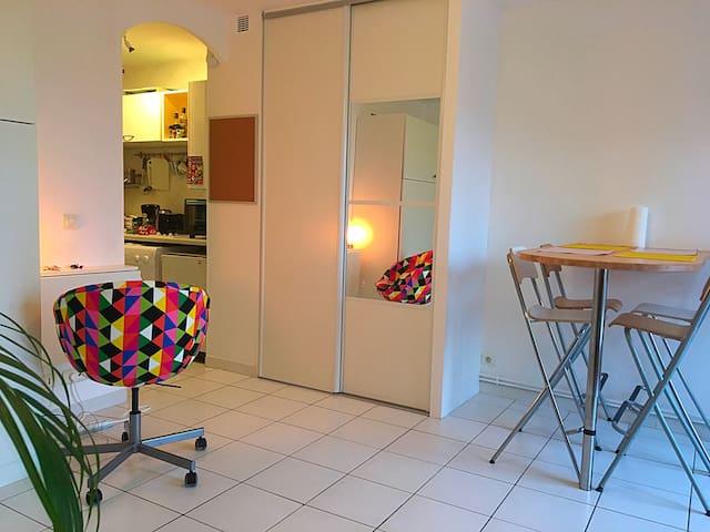 Studio lumineux de 25m2 avec terrasse ensoleillée - Sète - Apartment