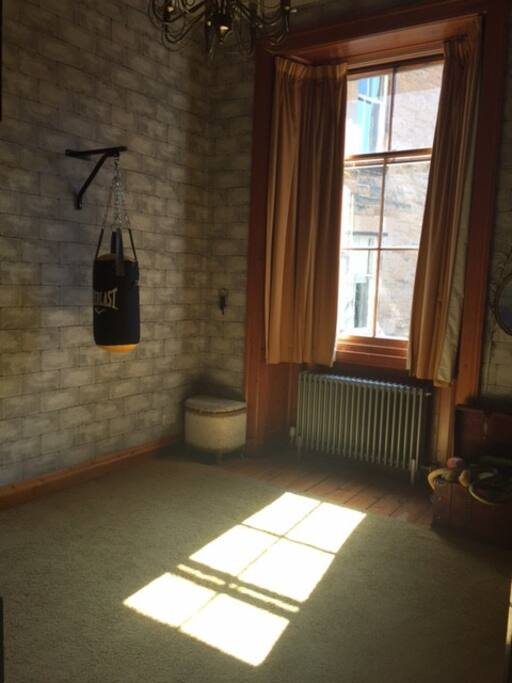 Harry Potter Style bedroom (has two of these single four poster beds in at present)