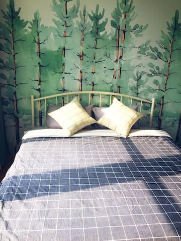 泰华中百超大舒适美丽大床房,特级床垫超舒适
