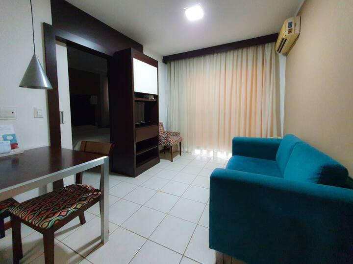 Apartamento 1203A / Ar / Wi-Fi / Garagem / Piscina