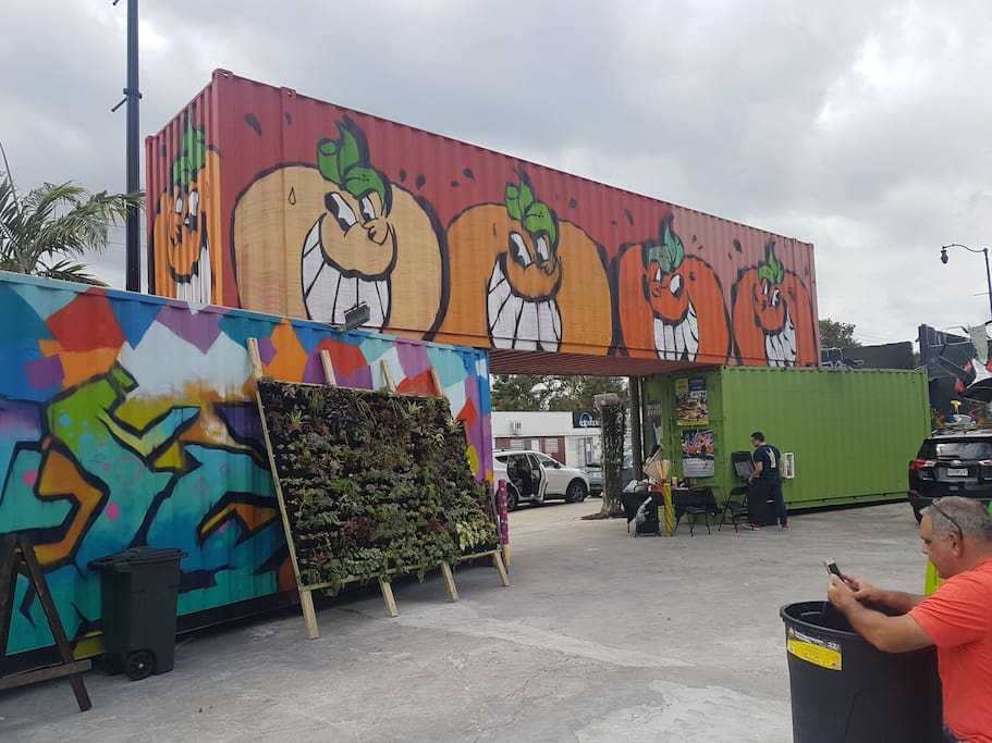attractions of the area. design district, wynwood .