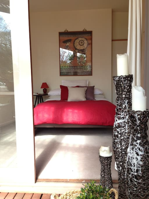 Front bedroom with views onto garden & deck