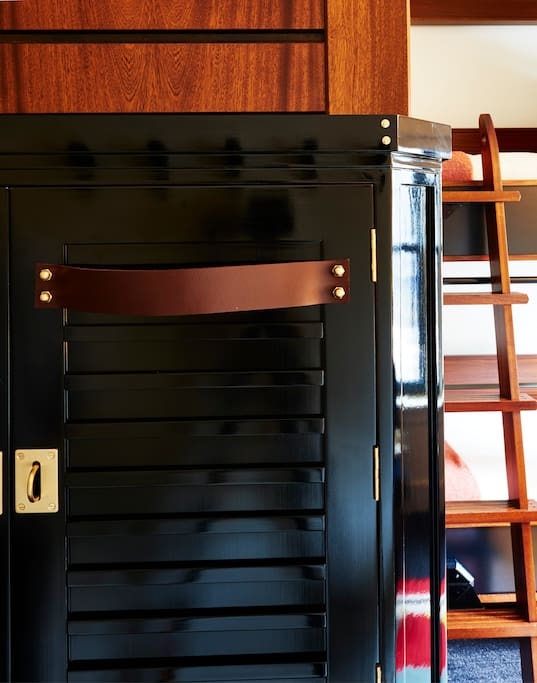 Each guest is assigned a locker for belongings.