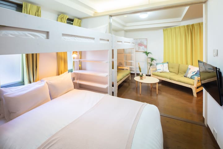 Umeda & Osaka Station! 6Beds for group! B