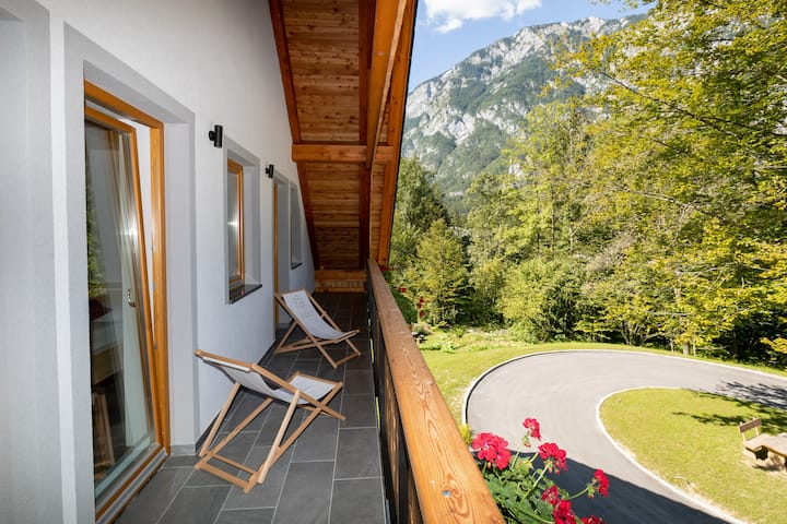 Stylish Two bedroom apartment with balcony and forest view