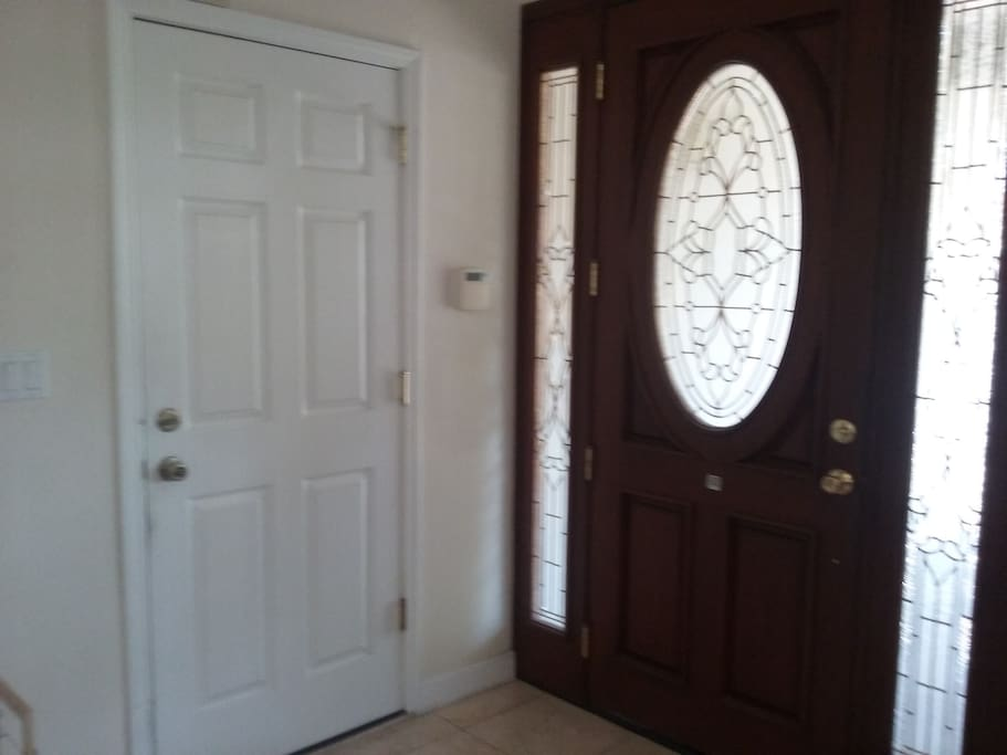 This is the entrance where you first enter through the front door.