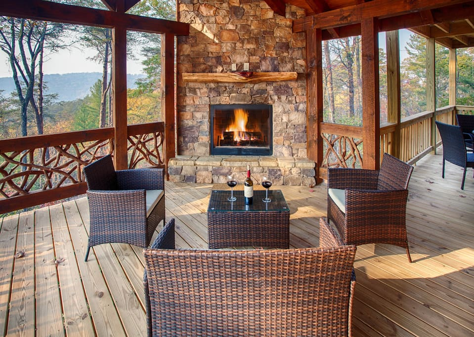mountain top luxury cabin unbelievable sunset cabins for rent in blue ridge georgia united. Black Bedroom Furniture Sets. Home Design Ideas