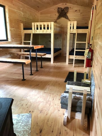 Bunk beds - 2 full size and 2 narrow singles