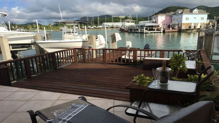 Serene Waterfront Villa Jolly Harbour South Finger