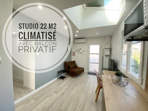Studio Ora ★★ - 22 m² - climatisé avec balcon privatif
