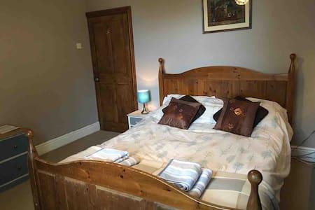King bed, private bath, victorian -near centre.