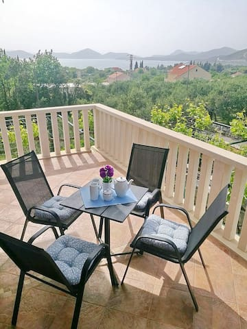 Apartments Kola - Two Bedroom Apartment with Terrace and Sea View (1)
