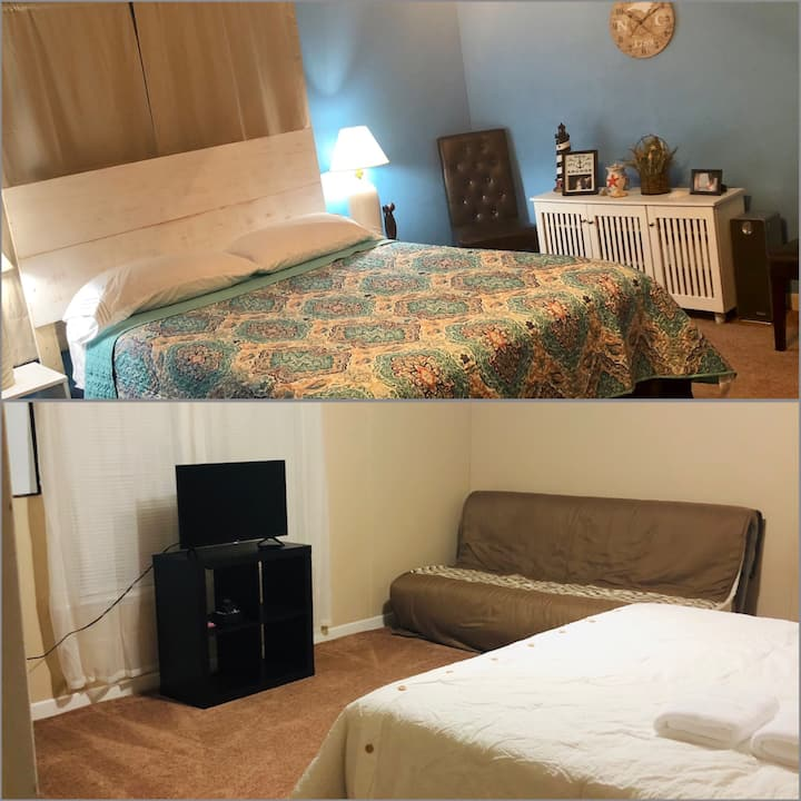 2 Spacious bedrooms, pvt bath, 2 mins from I-95