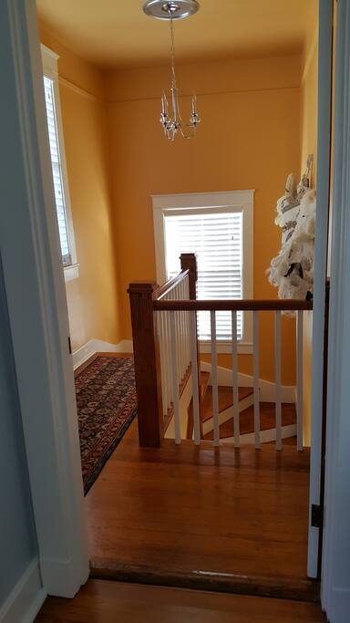 Welcome up the double winder stairs!