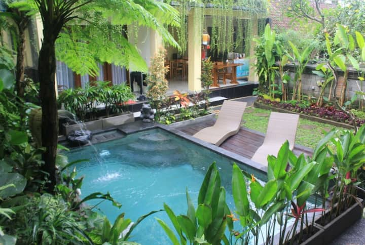 Pool View Double Room Ubud Center #1