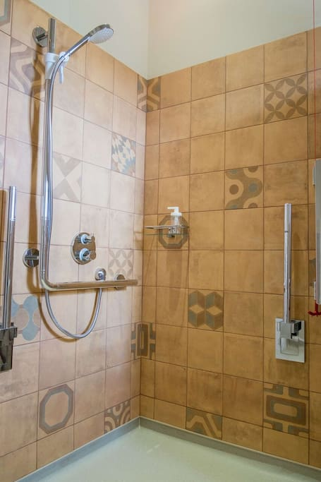 The Woodstore en-suite has a large shower which is fully accessible.