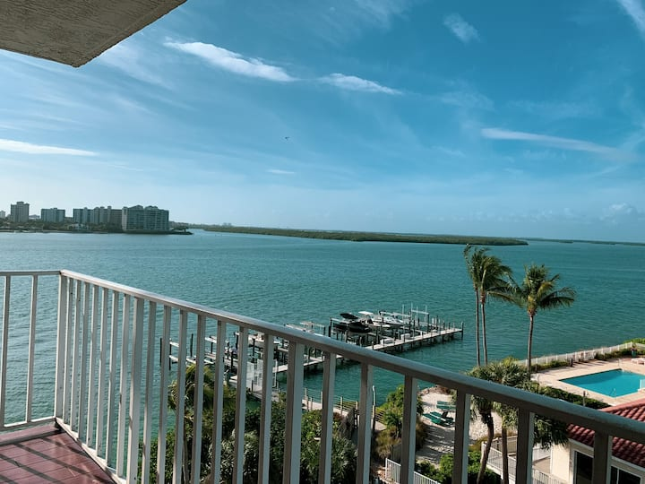 NEWLY REMODELED! - Water view with private beach!