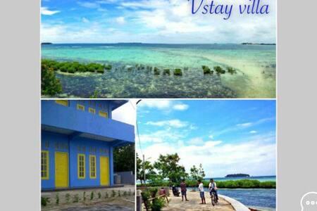 Front beach ocean view wt rooftop 3 - Kepulauan Seribu