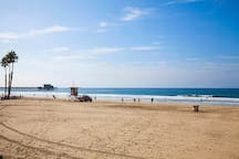 Newport beach and pier
