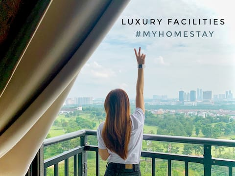 【Johor Bahru Golfview &CozyStyle】8min Mount Austin