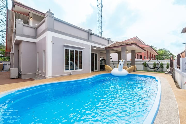 ❤️AoNang✨Villa with private pool⌚5mins from beach⛵