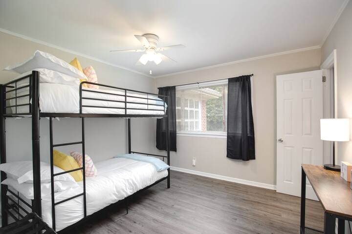 Bedroom 4 - Complete with two twin beds (bunk) with fresh clean sheets and pillows.