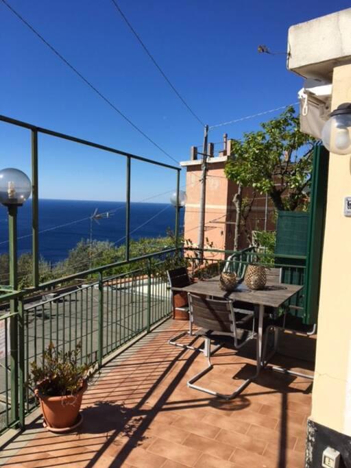 Terrace watching Genoa