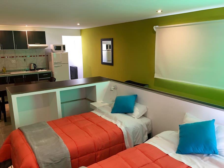 Configuración con camas twin