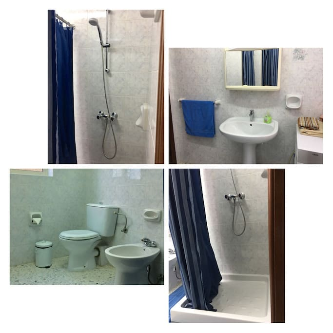 Only you will be using the bathroom. I will just need to enter to use the washing machine, but other then that we wont be using the bathroom.  The bathroom its situated outside the bedroom.